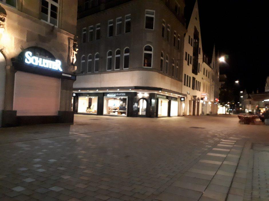 Die Altstadt von Bielefeld bei Nacht